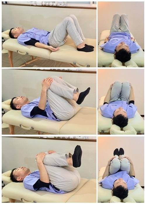 背中と腰のストレッチ